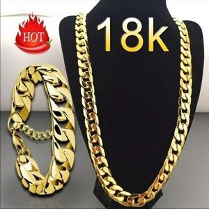 Other - Fashion Luxury Exaggerated Men Women Necklaces 18k